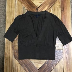 Brown Cropped Cardigan from Banana Republic